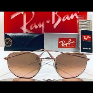 Ray-Ban Sunglasses Hexagonal Copper; Brown Pink